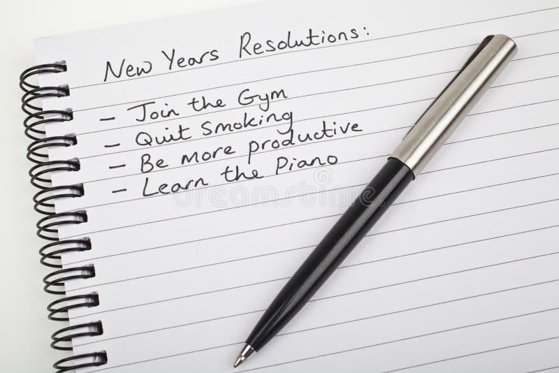 新年度解决方法 免版税库存照片