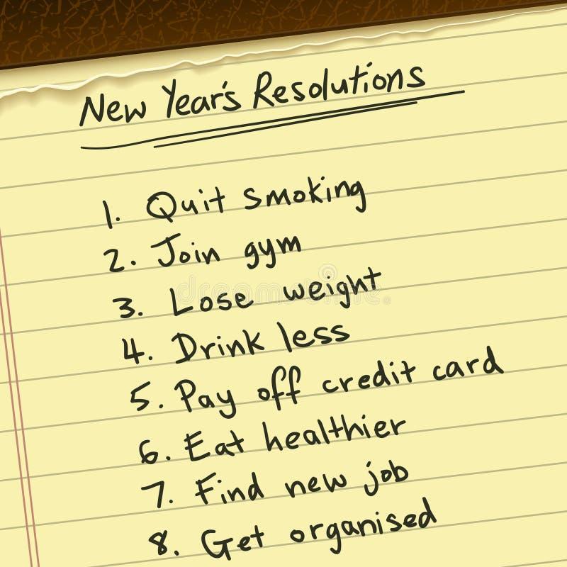 新年度解决方法 库存例证