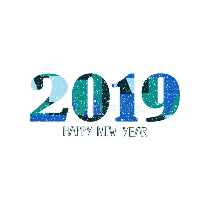 新年快乐礼品券,小册子,飞行物,海报设计的2019个设计图片