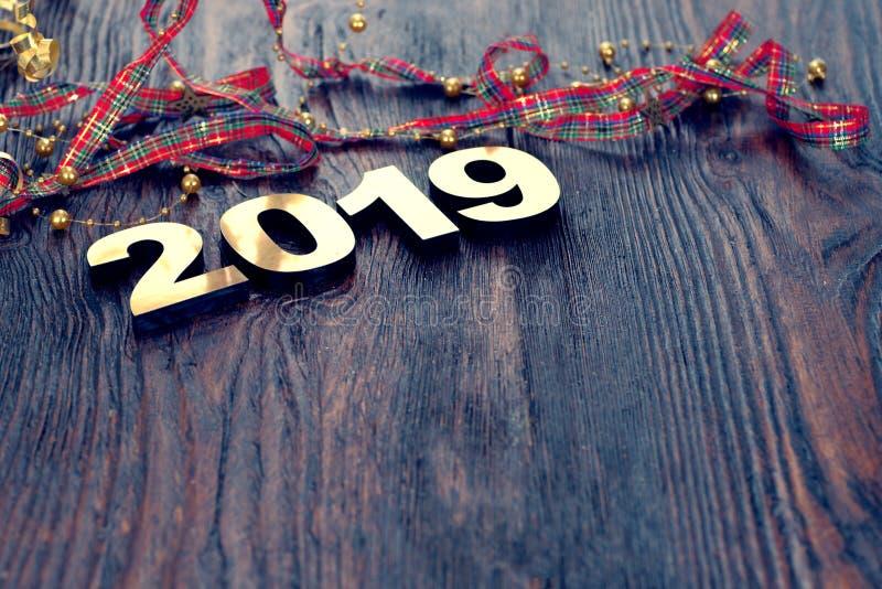 新年快乐2019年 免版税图库摄影