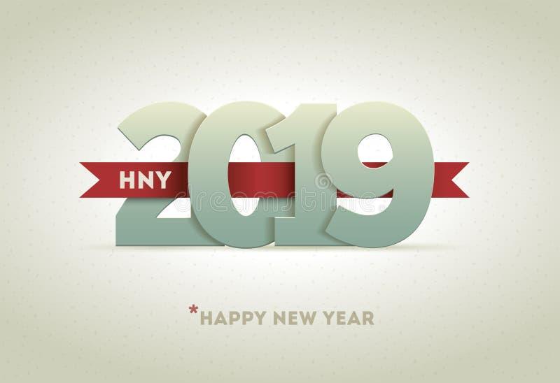新年快乐2019年 向量例证