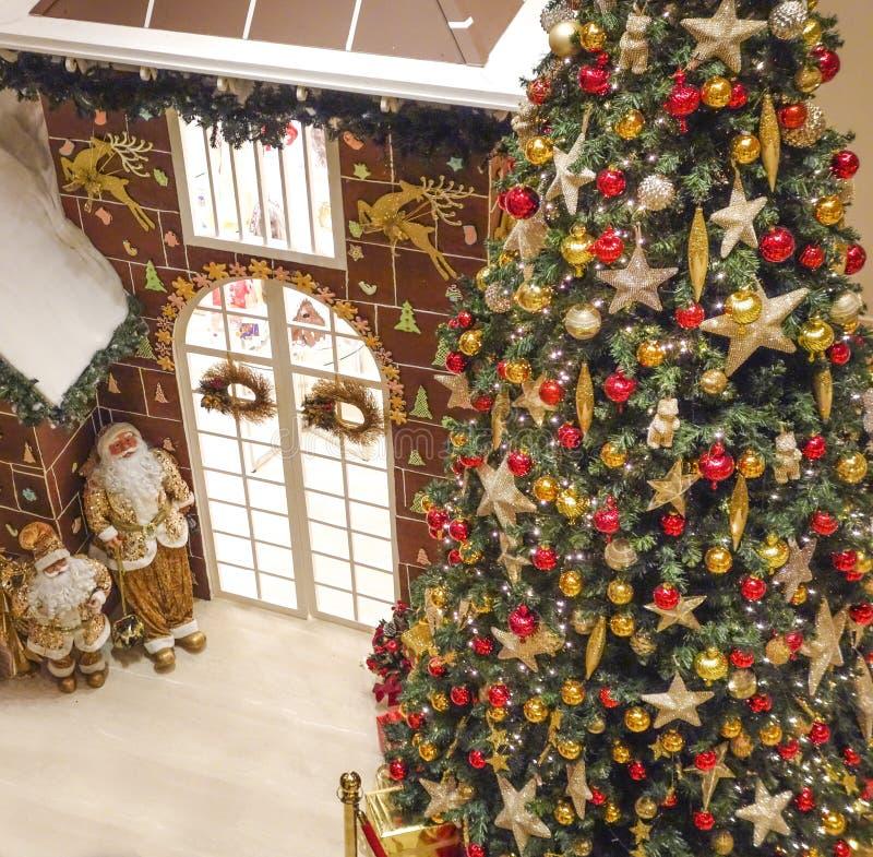 新年树和详细信息 库存图片