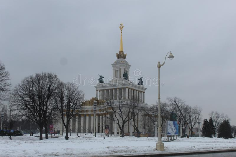 2019?1? ?? r 新年莫斯科VDNKh 库存照片