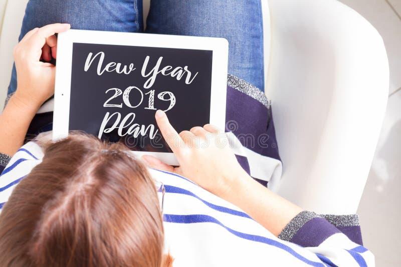 2019新年计划 免版税库存照片