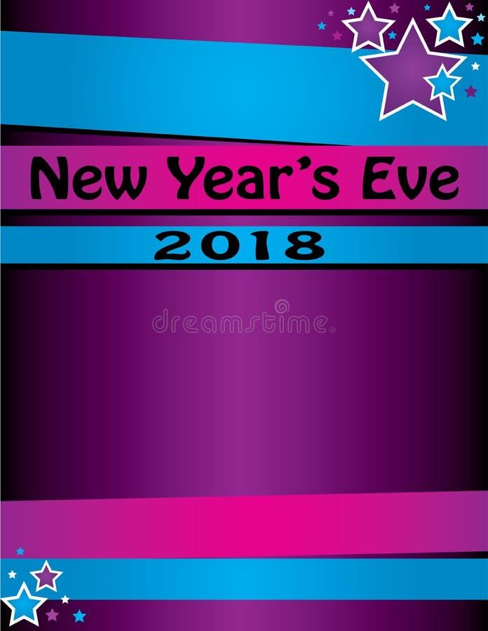 新年` s伊芙党/庆祝敲响的背景 向量例证