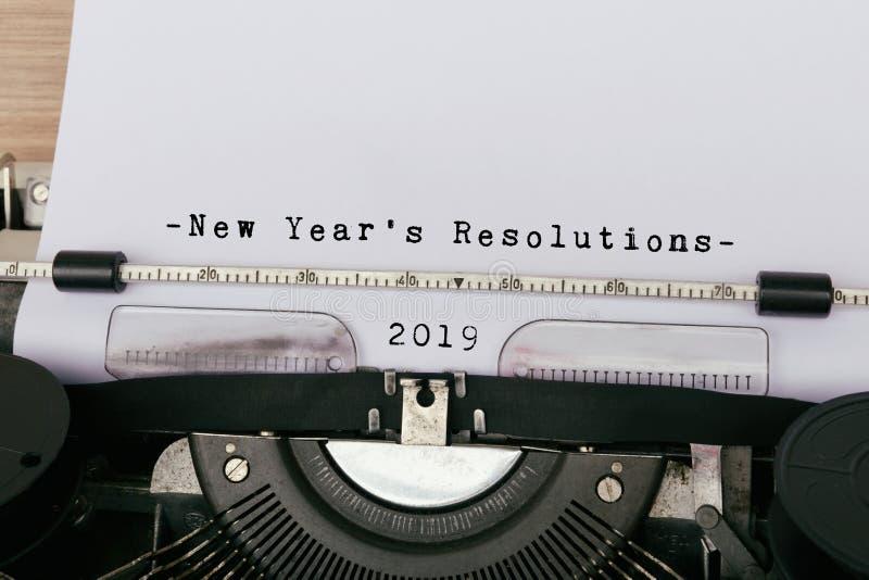 2019新年` s决议 免版税库存图片