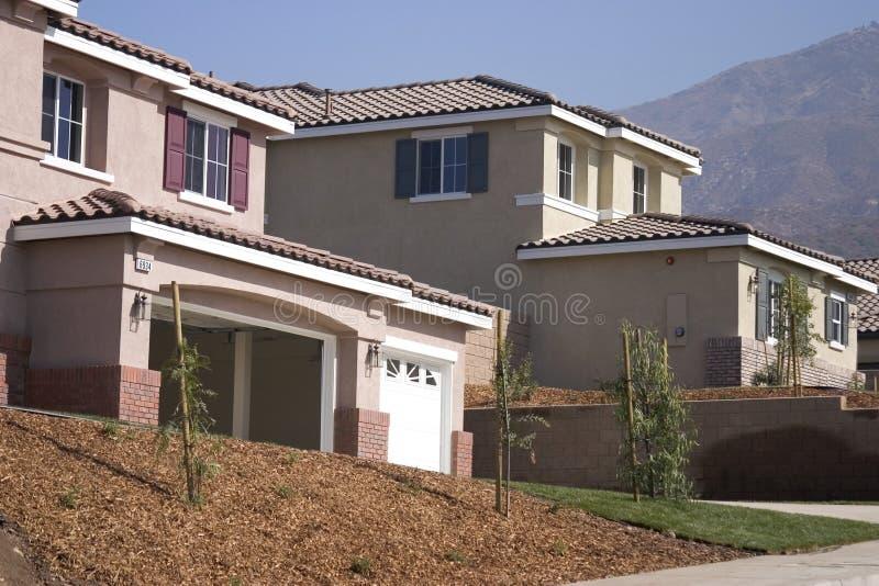 新建筑家庭的房子 免版税库存照片