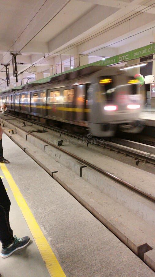 新德里地铁运输铁路 库存图片