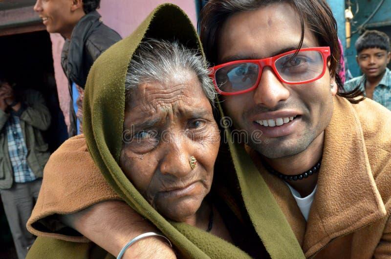 印第安家庭 库存照片