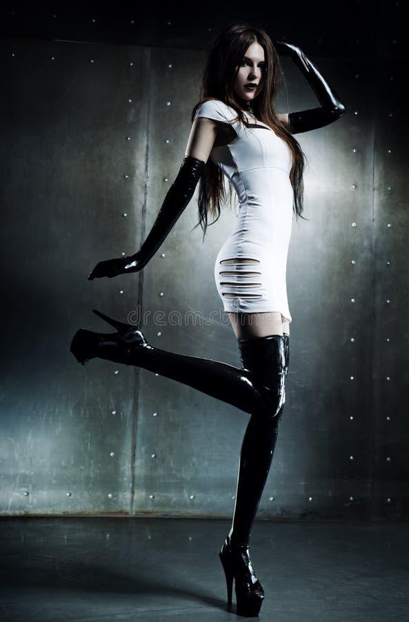 新性感的goth妇女 库存照片