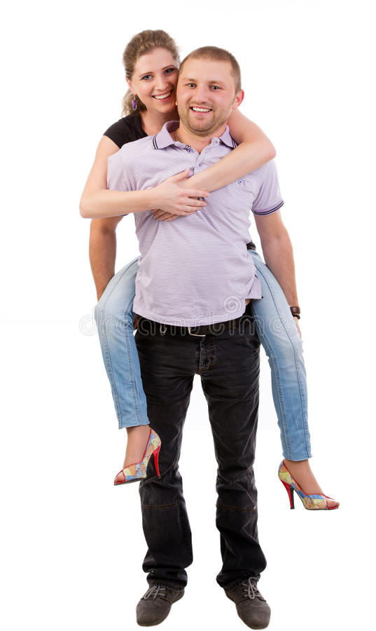 新愉快的夫妇 免版税库存照片