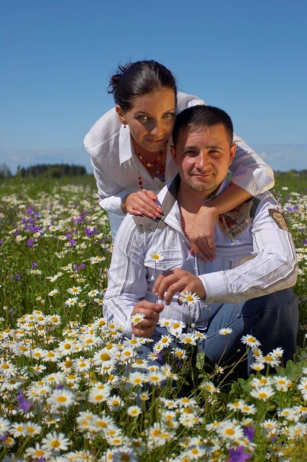 新愉快的夫妇 免版税库存图片