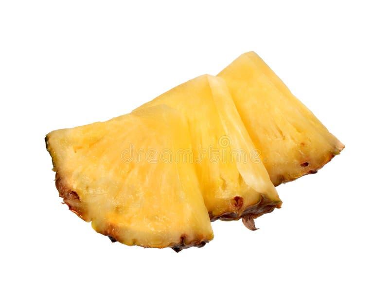 新成熟菠萝切片 免版税图库摄影