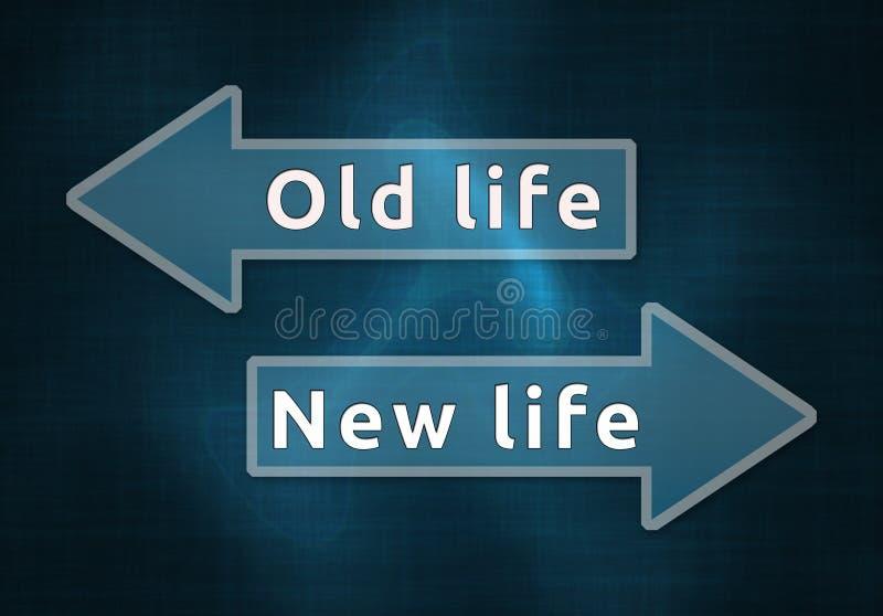 新或老生活 皇族释放例证