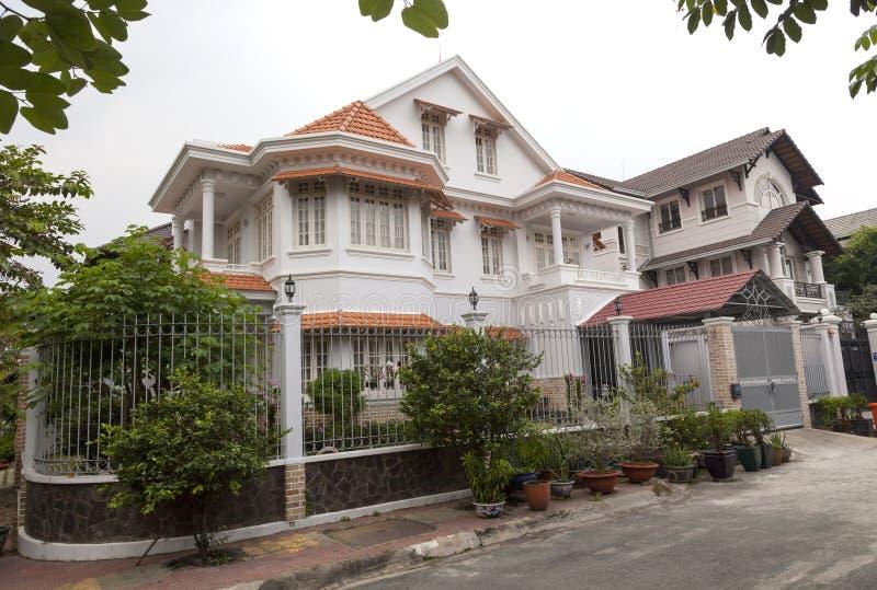 新房在第2区在胡志明,越南 图库摄影