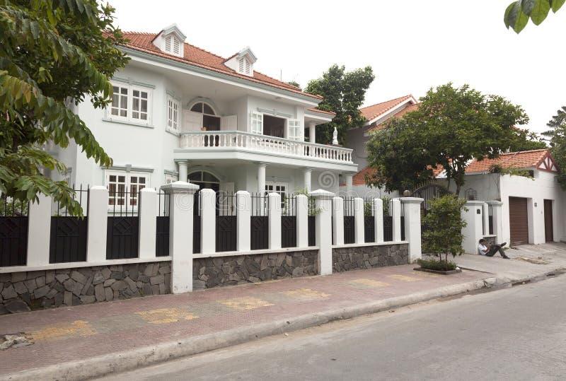 新房在第2区在胡志明,越南 免版税库存图片
