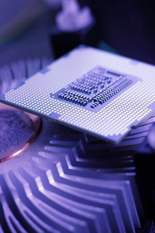 新技术处理器 库存照片