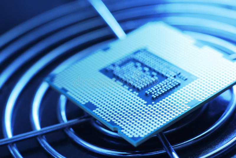新技术处理器 库存图片