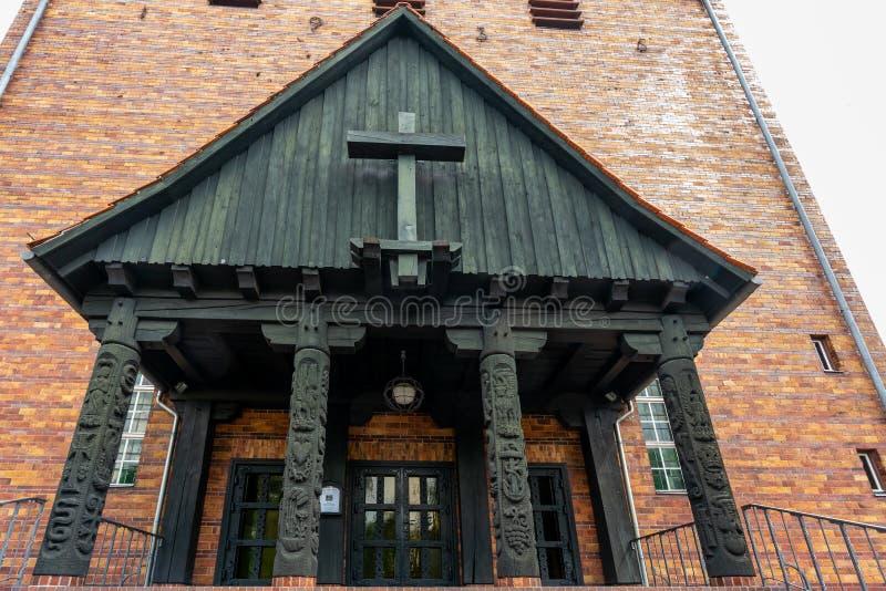 新教徒约翰尼斯教会在柏林Frohnau德国 库存照片