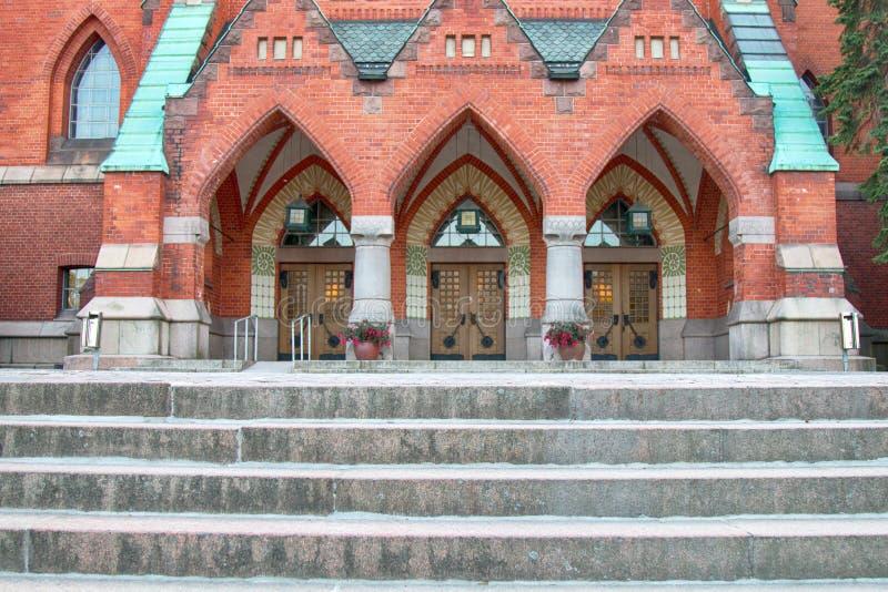 新教徒芬兰教会 免版税库存照片