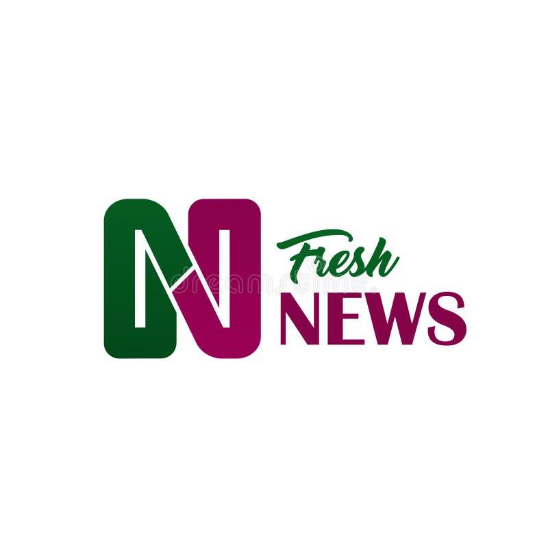 新新闻媒体字母N传染媒介象 向量例证