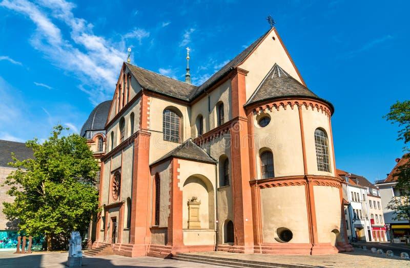 新明斯特牧师会主持的教堂在维尔茨堡,德国 免版税库存照片