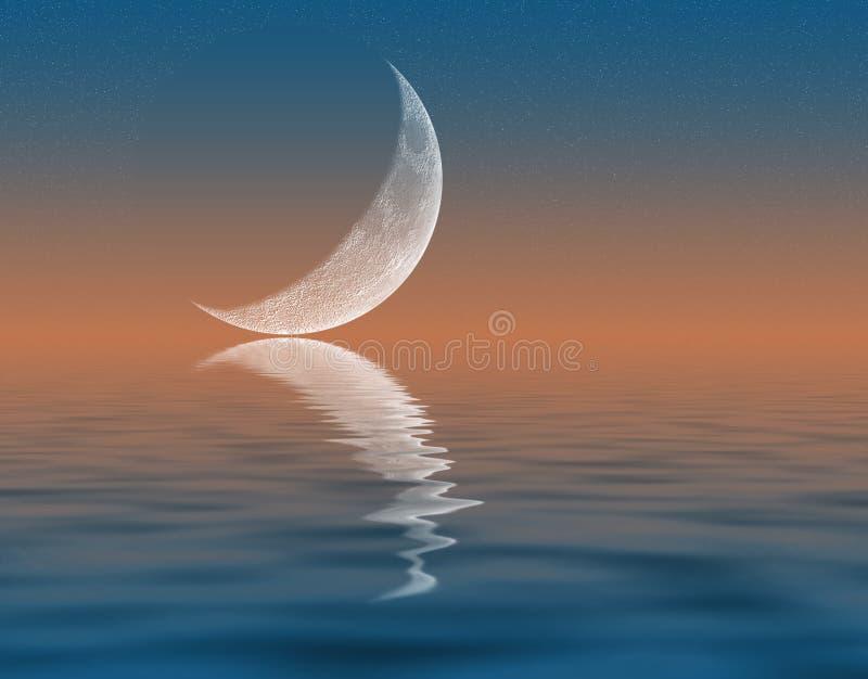 新月形月亮 库存例证
