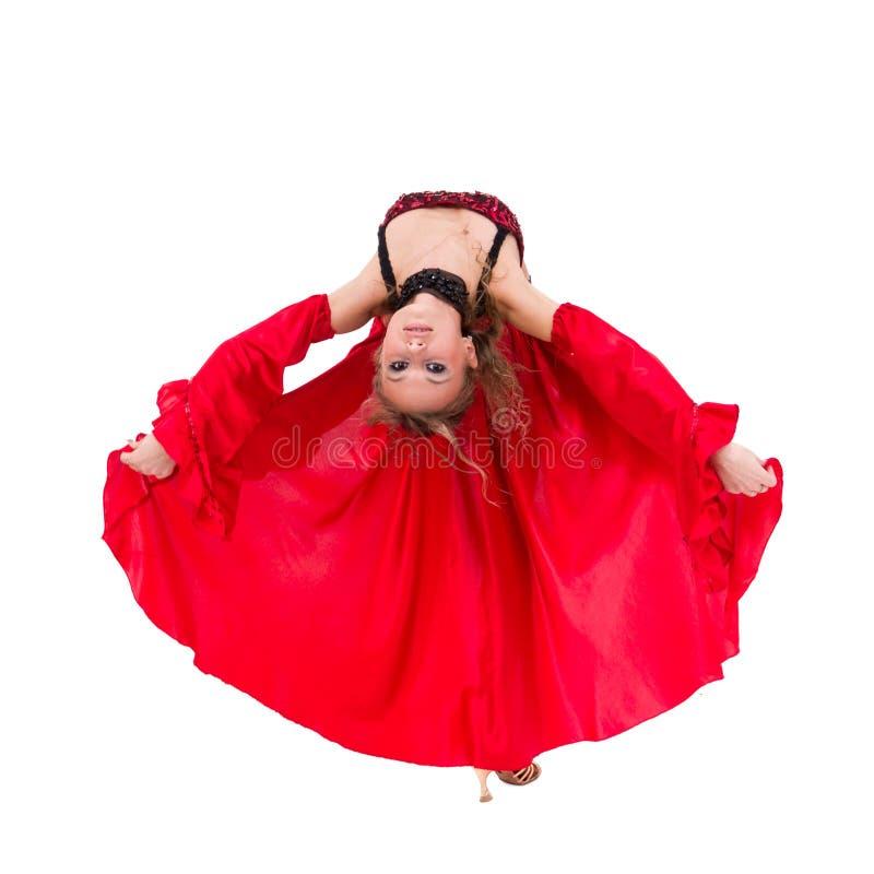 新有吸引力的妇女跳舞佛拉明柯舞曲 免版税库存照片