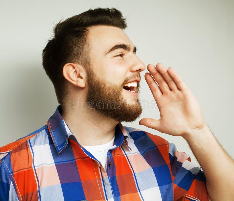 新有胡子的人 免版税库存图片