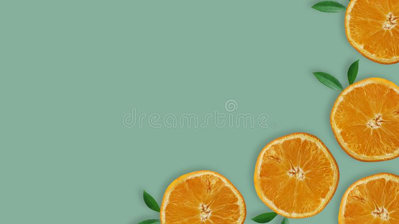新柠檬切片顶视图  库存图片