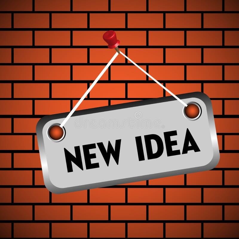 新概念的想法 库存例证