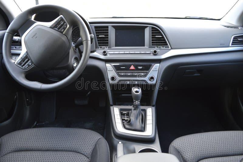 新汽车的控制板 库存图片