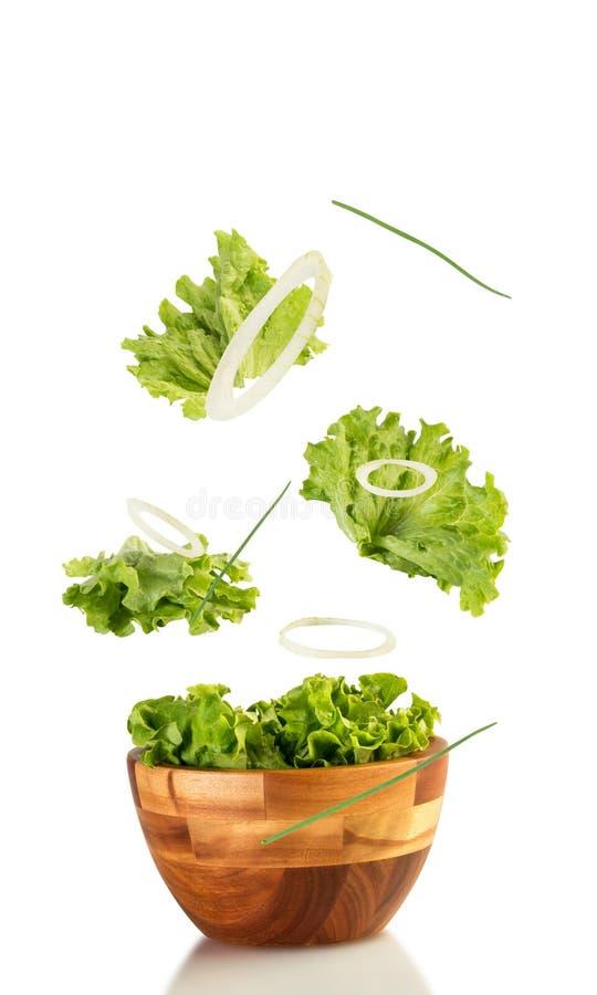 Download 新沙拉升空 库存照片. 图片 包括有 新鲜, 概念, 莴苣, 正餐, 弯脚的, 自然, 空白, 素食主义者 - 72369202