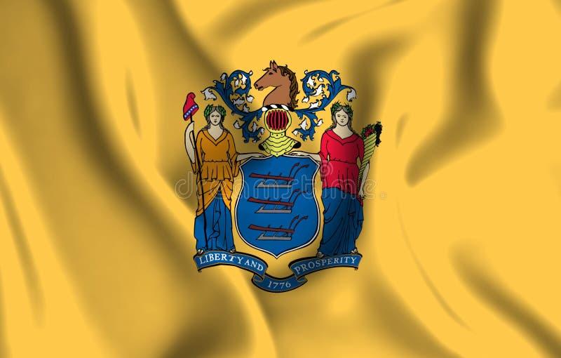 新泽西旗子例证 皇族释放例证