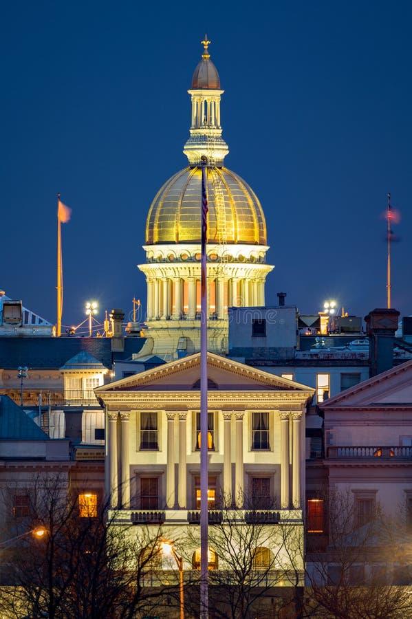 新泽西状态议院在黎明 库存图片