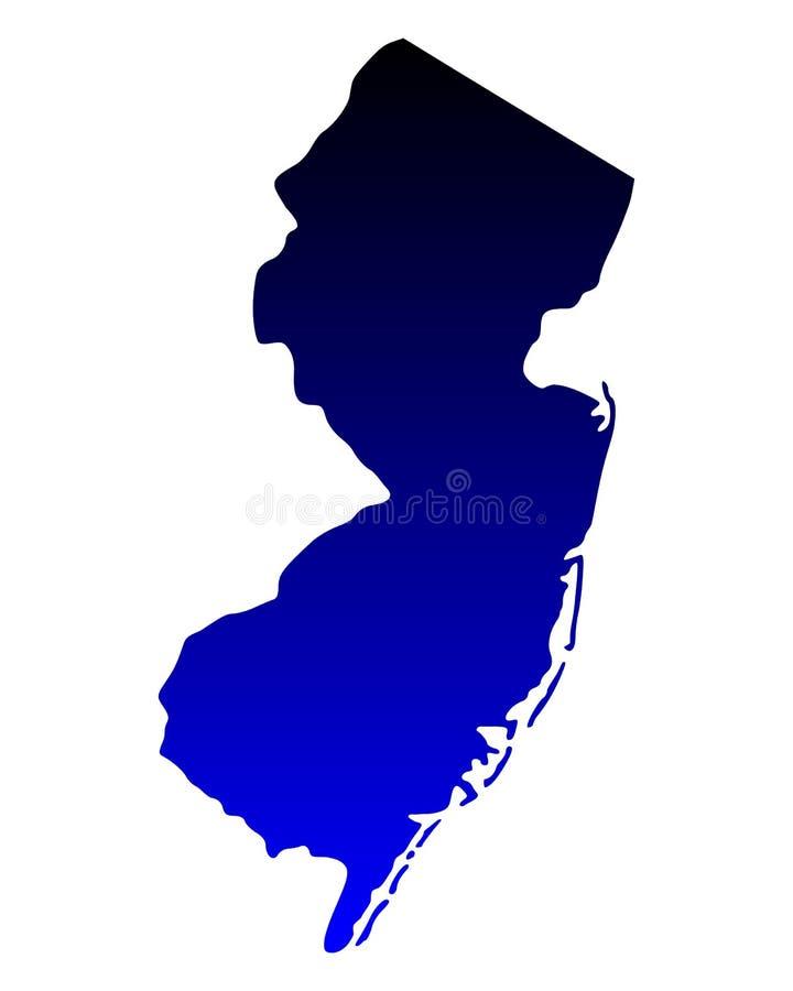 新泽西的地图 向量例证