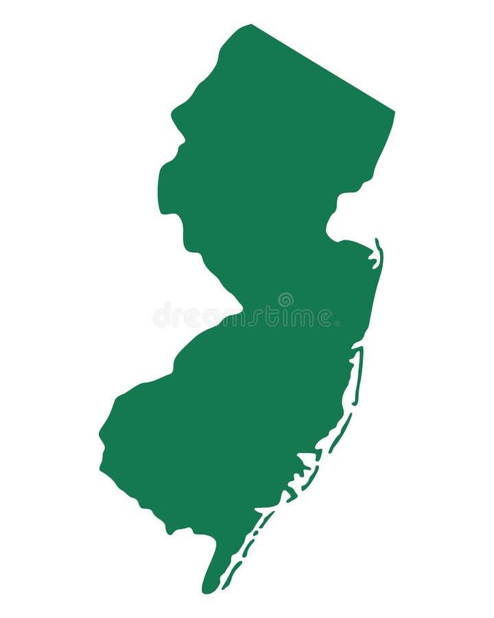 新泽西的地图 皇族释放例证