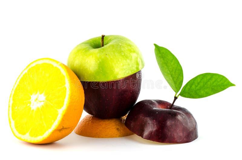 新混杂的果子饮食 免版税库存图片