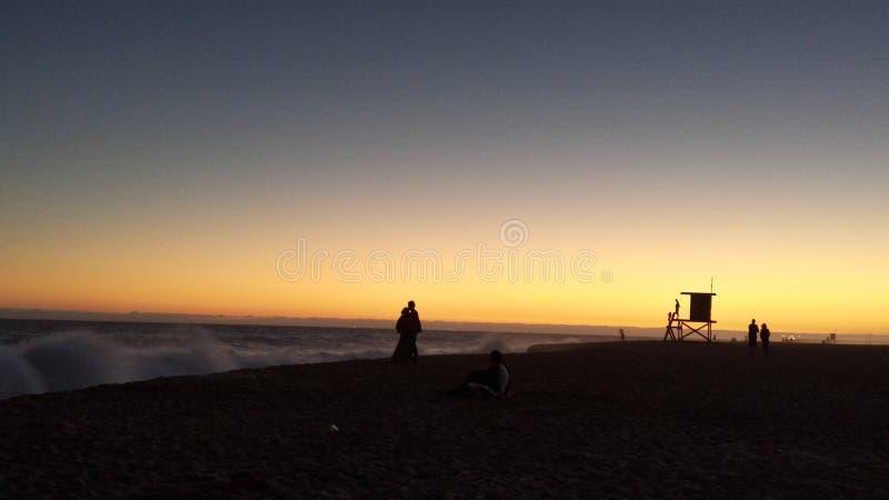 新港海滨加利福尼亚 库存图片