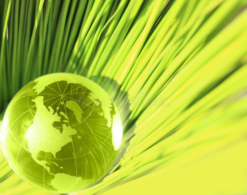 新玻璃地球草绿色 免版税库存照片