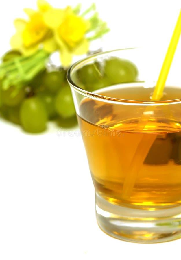 新玻璃葡萄汁白色 库存照片