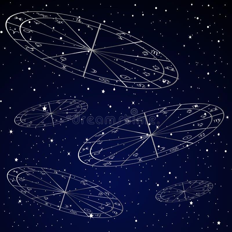 新生图占星术背景 皇族释放例证
