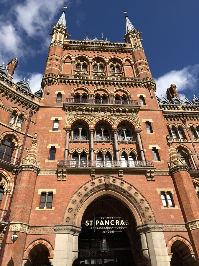 新生圣Pancras旅馆 免版税库存图片