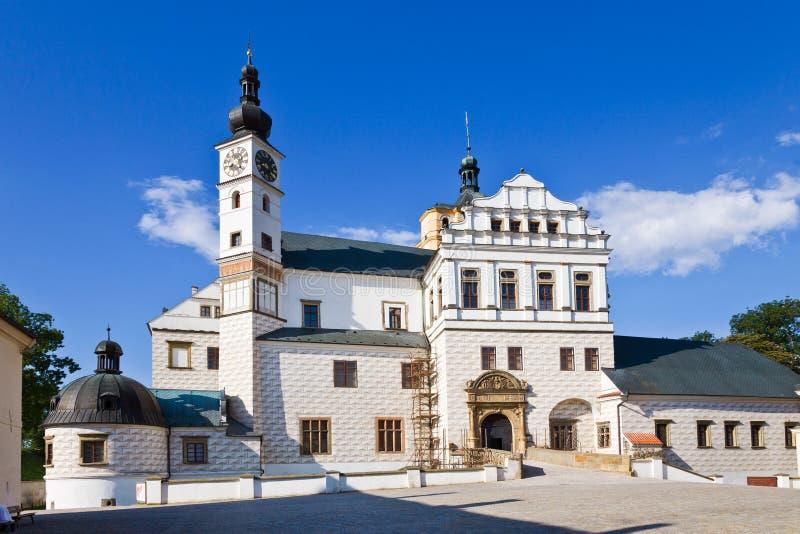 新生城堡, Pardubice,东部波希米亚,捷克共和国 免版税库存照片