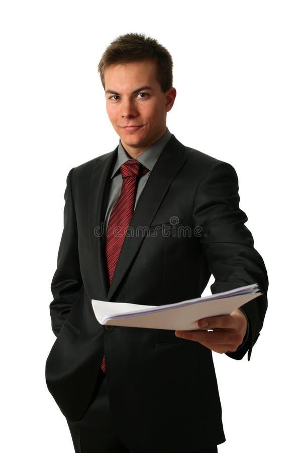 新生意人的文件 免版税库存图片