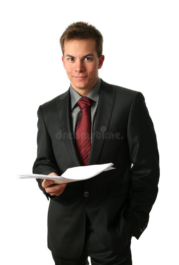 新生意人的文件 免版税库存照片