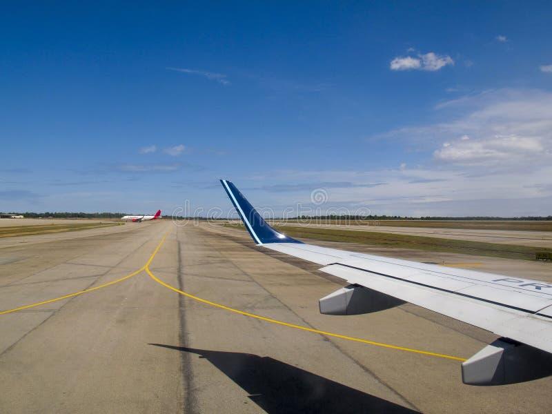 新生机场北里约格朗德巴西 免版税图库摄影