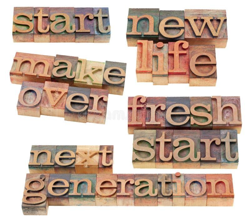 新生活修改新的起始时间 免版税库存图片
