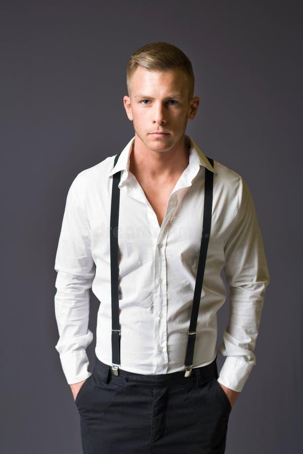 新男性时装模特儿。 库存照片