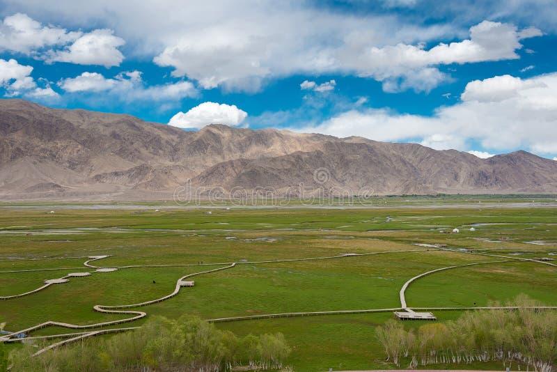 新疆,中国- 2015年5月21日:Tashkurgan古镇  一fam 免版税库存图片